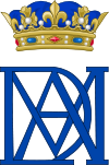 Royal Monogram of Anne Marie Louise d'Orléans, Duchess of Montpensier.svg