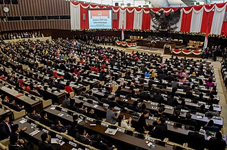 Indonesia - A presidential inauguration by the MPR in the Parliament Complex Jakarta, 2014.