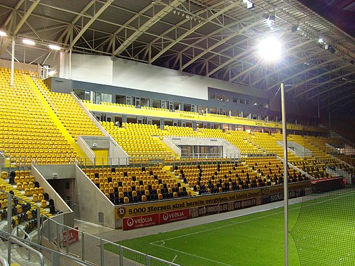 Rudolf Harbig Stadion Tribüne VIP Stand November 2009