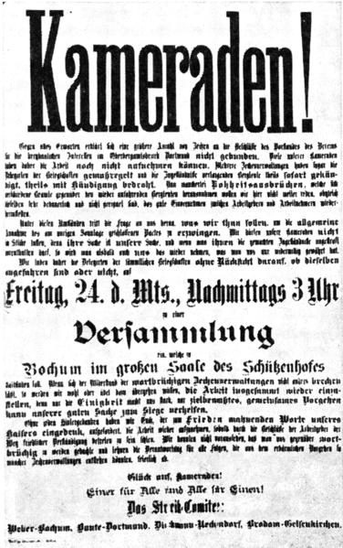File:Ruhrgebiet Bergarbeiterstreik 1889 Versammlungsaufruf.png