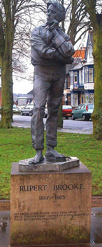 Rupert Brooke - A statue of Rupert Brooke in Rugby