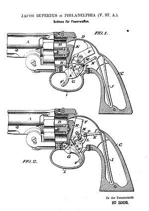 """Внутреннее устройство револьвера с ударно-спусковым механизмом  """"двойного..."""