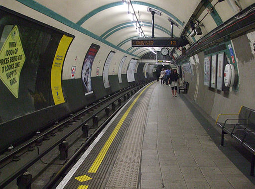 Russell Square stn eastbound look west