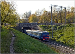 Russian commuter train. Extremely slow - Moscow Region, Russia - panoramio.jpg