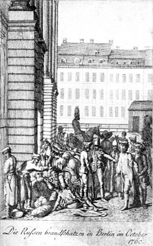 Raid on Berlin - Image: Russians in Berlin 1760 Chodowiecki