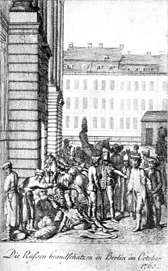 Raid on Berlin - Russians and Austrians devastate the Arsenal in Berlin, October 1760