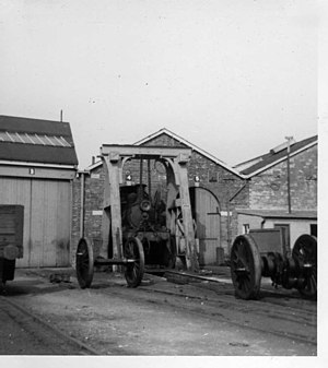 Ryde depot - Ryde engine shed in 1965, before it was converted for electric trains.  The central pitched roof is in the background of the modern photo.