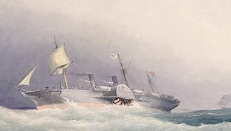Caird & Company - Painting of SS Atrato by William Frederick Mitchell
