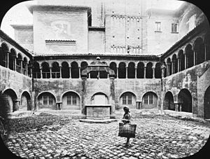 Santo Stefano, Bologna - Cloister, Basilica di Santo Stefano, Bologna, Italy, 1895.
