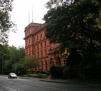 St Bede's College, Manchester - The Vaughan building from Alexandra Road South