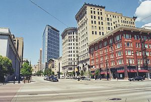 Downtown Salt Lake City - Main Street and 400 South