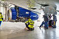 SSJ100 for Interjet - Painting the livery (8463918995).jpg