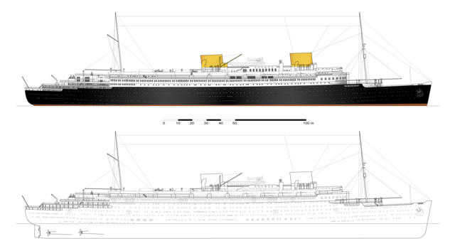 File Ss Bremen 1929 Profile Nyc Png Wikimedia Commons