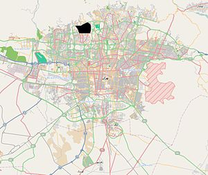 Sa'adat Abad in Tehran map (in black).JPG