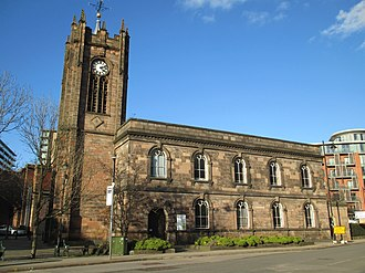 Listed buildings in Salford, Greater Manchester - Image: Sacred Trinity Church, Salford (2)
