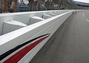 SAFER barrier - SAFER barrier at Talladega Superspeedway