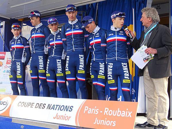 Saint-Amand-les-Eaux - Paris-Roubaix juniors, 12 avril 2015, départ (A04).JPG