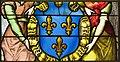 Saint-Chapelle de Vincennes - Baie 1 - Deux anges présentant les armes de France (détail) (bgw17 0803).jpg