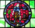 Saint Aloysius Catholic Church (Bowling Green, Ohio) - stained glass, clerestory, Sower of Galatians 6-8.jpg