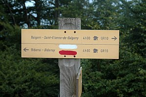 GR 10 (France) - Signpost on the GR10