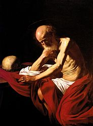 Caravaggio: Saint Jerome penitent