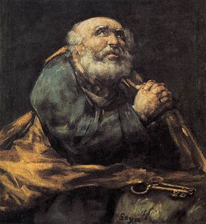 Saint Peter Repentant by Goya