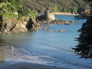 Salcombe Castle - Salcombe Castle from North Sands