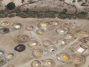 Sine-Saloum - Salt wells (view from an ultralight aeroplane)