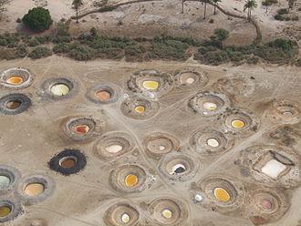 Sine-Saloum - Salt wells (view from an ultralight aeroplane)