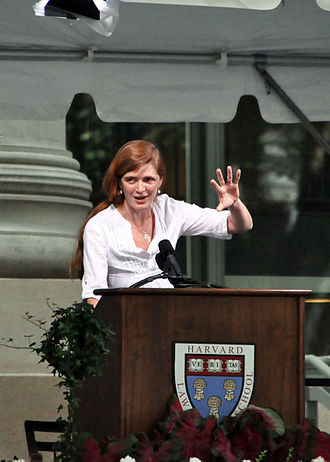 Samantha Power - Power speaking at Harvard Law School's Class Day (2010)