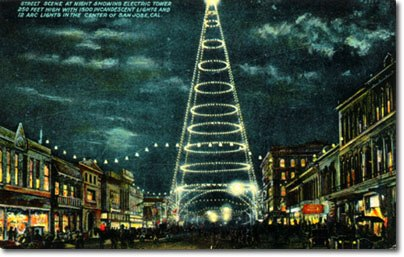 San Jose Moonlight Tower Postcard 1