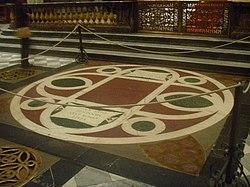 The tomb of Cosimo de' Medici in San Lorenzo, Florence.