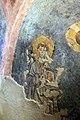 San lorenzo in insula, cripta di epifanio, affreschi di scuola benedettina, 824-842 ca., cristo benedicente alla greca tra i ss. lorenzo e stefano 02.jpg