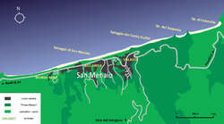 Map of San Menaio