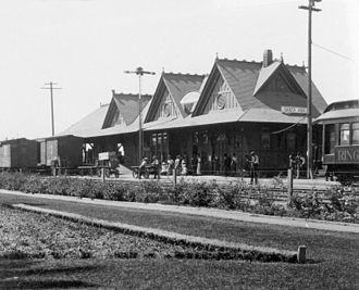 California Central Railway - Santa Fe Depot, Santa Ana, 1911