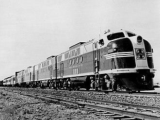EMD F-unit - Image: Santa Fe FT locomotive 1941