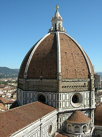 The dome of Florence Cathedral (the Basilica di Santa Maria del Fiore) Santa Maria del Fiore cupola (1622842169).jpg