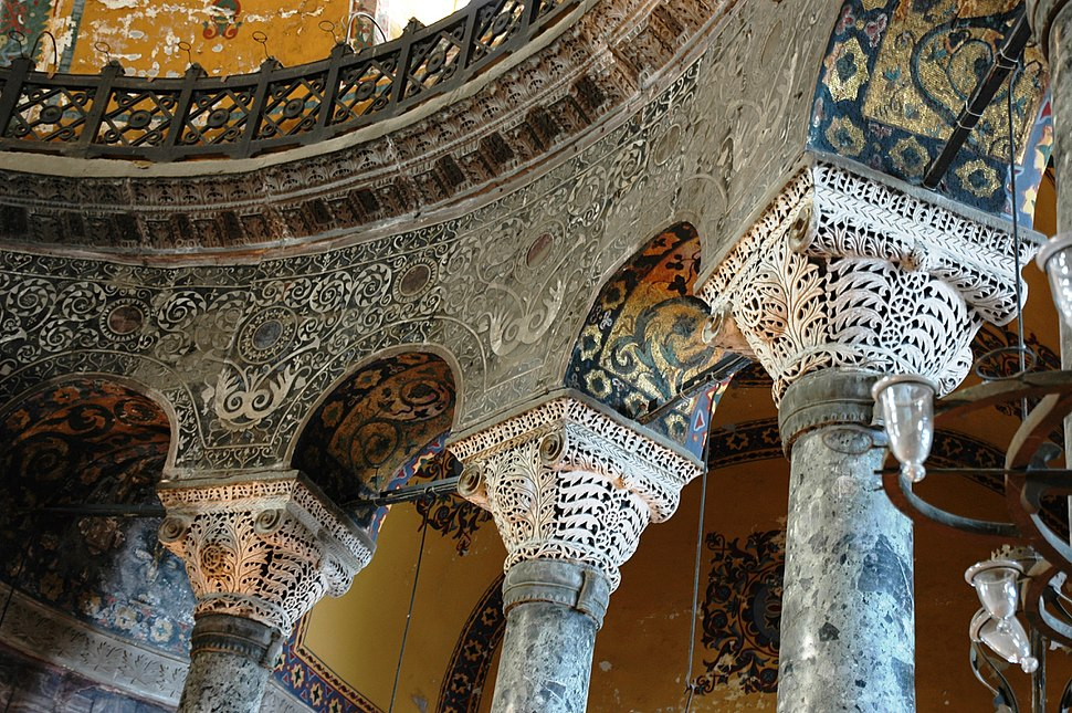 Santa Sofia - Interior - Detall pis superior