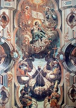 Jos� Joaquim da Rocha: Glorifica��o dos Santos Franciscanos, Igreja do Convento de S. Ant�nio, Jo�o Pessoa