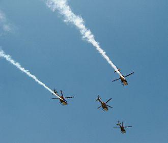 HAL Dhruv - IAF Sarang display team uses modified Dhruvs