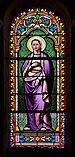 Sauzé-Vaussais 79 Église Vitrail Ste Bernadette 2014.jpg