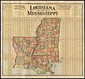 Scarboroughs new county and post office map of Louisiana and Mississippi with complete index giving population and location ; compiled from the latest government surveys and other authentic sources (9138828500).jpg
