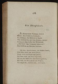 Die Bürgschaft poem by Friedrich Schiller
