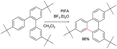 Scholl reaction Blocking Substituents