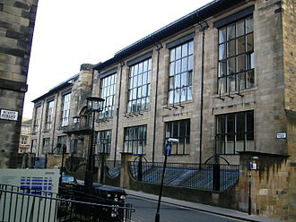 Glasgow School of Art - Glasgow School of Art's Mackintosh building, photographed in 2005