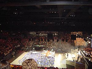 Schools Spectacular - The Australian flag can be seen on the arena the 2005 Schools Spectacular