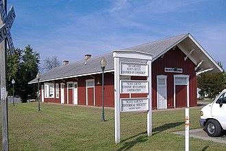 Scottsburg, Indiana - The Scottsburg Depot is listed on the National Register of Historic Places