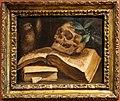 Scuola bolognese, vanitas con libri, xviii secolo.jpg