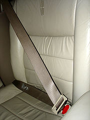 A three-point seatbelt