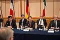Secretary Geithner with Japan's Finance Minister Jojima (left) and Chairman Bernanke (8076536656).jpg